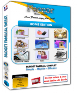 logiciel home edition gestion compte perso