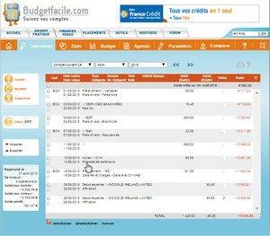 logiciel budget facile