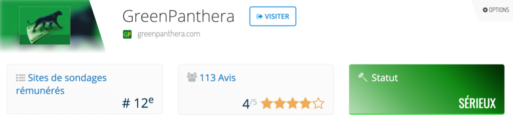 avis netbusinessrating sur greenpanthera