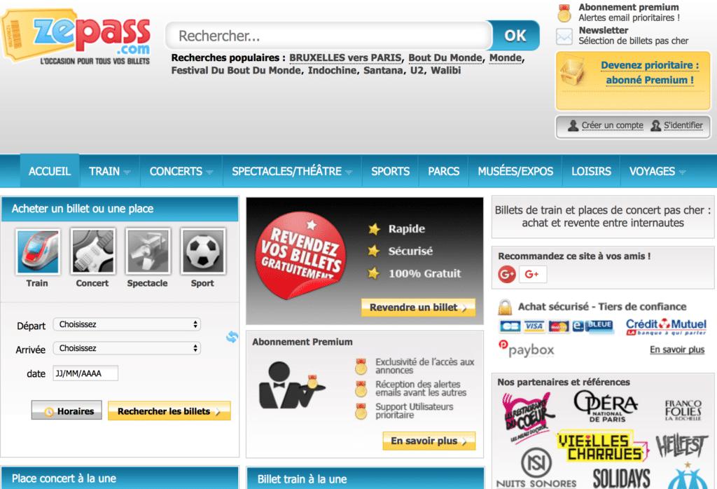 revente billets avec Zepass.com