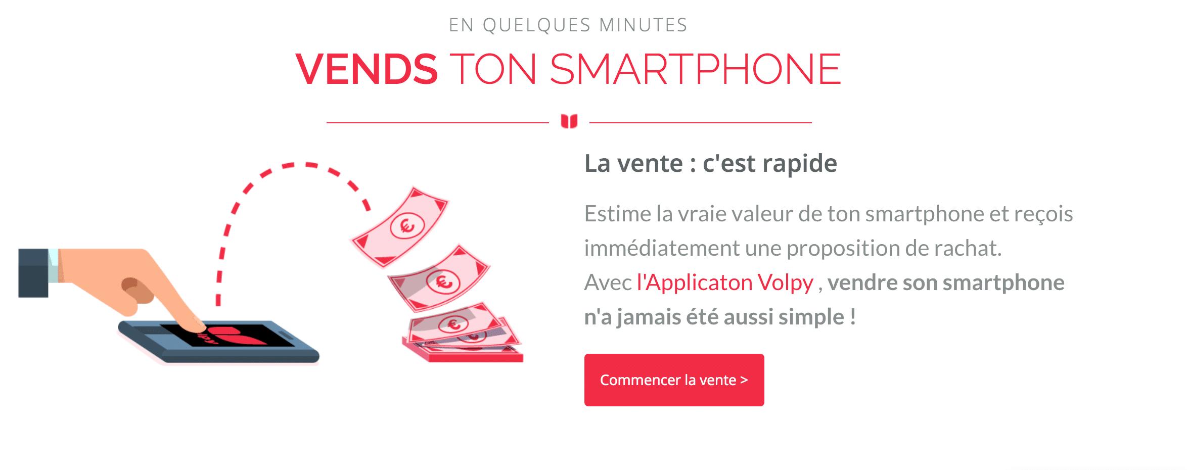 vendre son smartphone avec Volpy