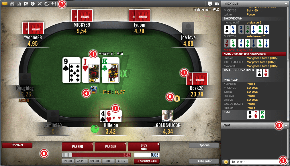 jouer au poker sur Winamax