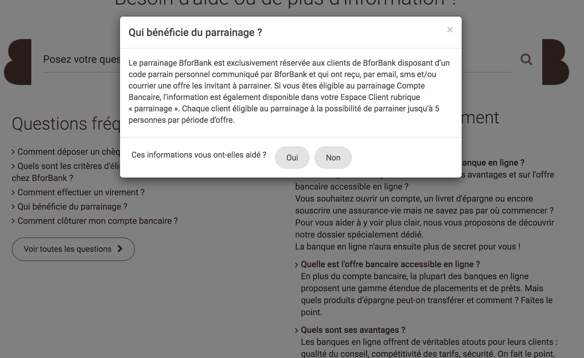 limitation programme parrainage BforBank