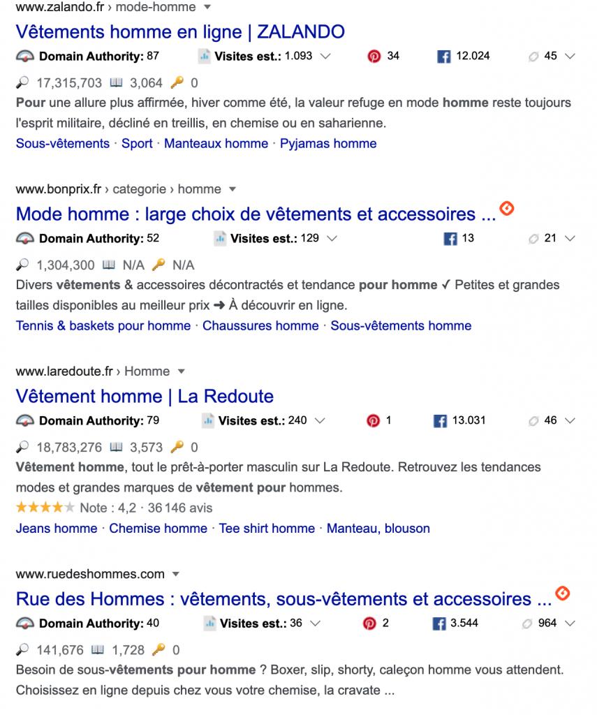 Affichage de l'icône iGraal sur Google